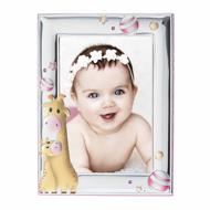 Εικόνα της BABY GIRAFFE SILVER FRAME