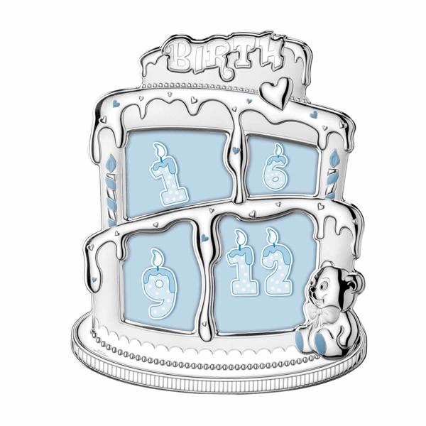 Εικόνα της BABY BITHDAY CAKE SILVER FRAME