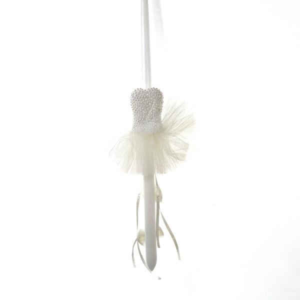 Εικόνα της LITTLE WHITE DRESS WITH PEARLS
